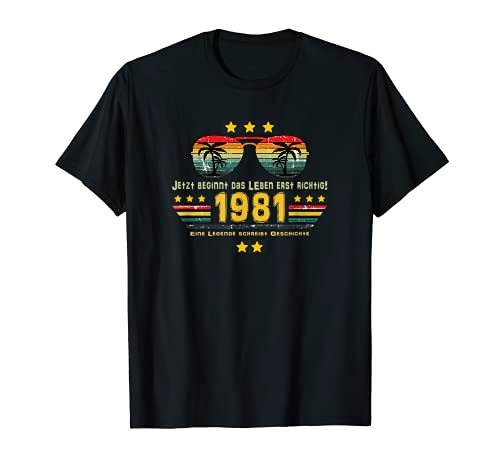 40. Geburtstag 40 Jahre Ehrentag Outfit 1981 Birthday T-Shirt