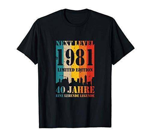 40 Jahre Geburtstag 1981 Next Level Lebende Legende T-Shirt T-Shirt